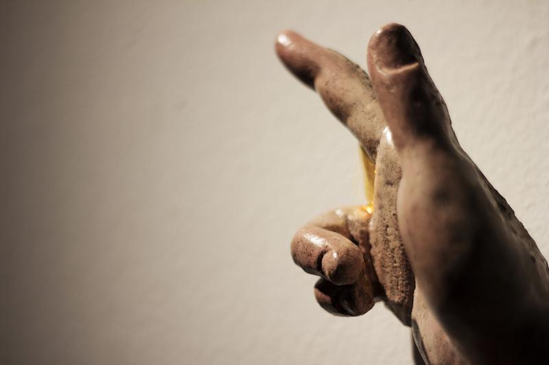 Talla en madera policromada con pan de oro